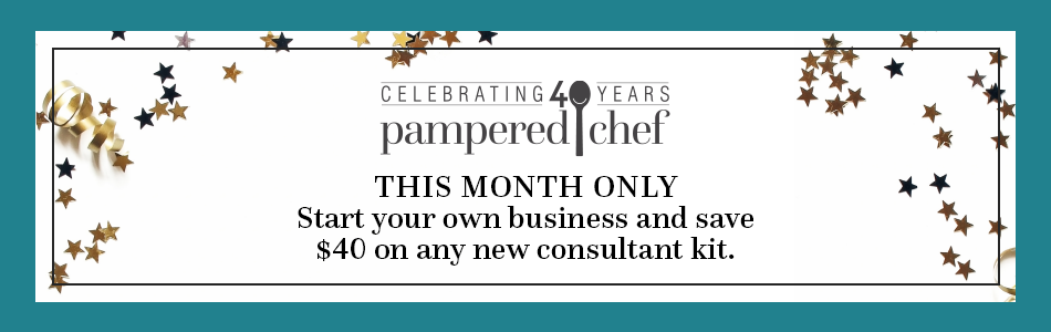Celebrating 40 years - This Month Only - Start your Business and save $40 on any new consultant kit.