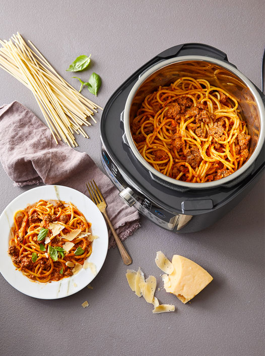 Quick Cooker Bolognese made with the Quick Cooker and Accessories Set