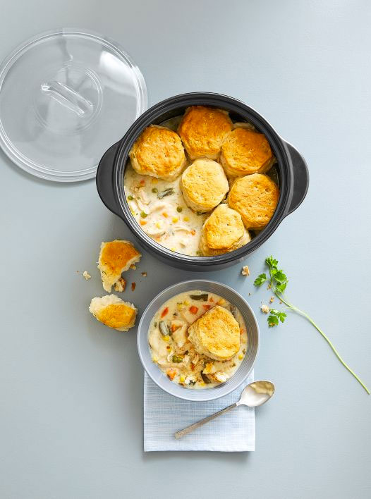 Chicken Pot Pie Chowder made with the Dutch Oven Set