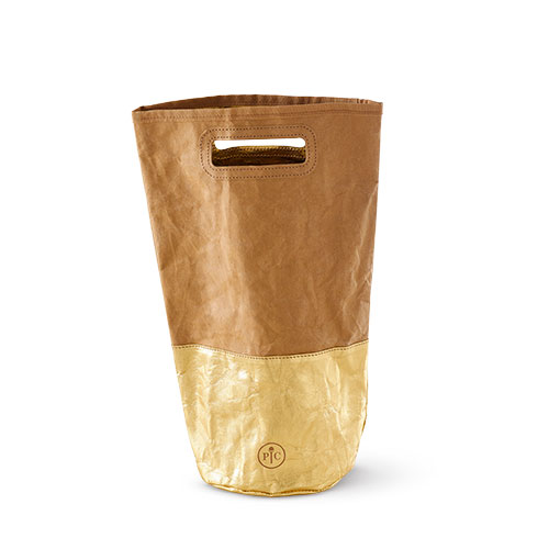 Reusable Wine Gift Bag in Gold