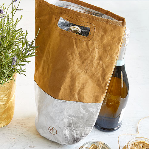 Reusable Wine Gift Bag in Silver