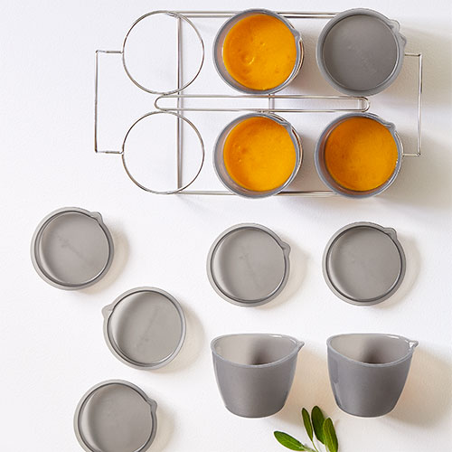 6-Piece Freezer Bowl Set & Rack