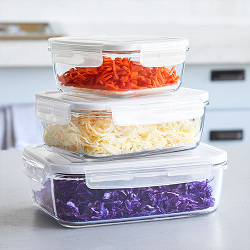 Leakproof Glass Container Set