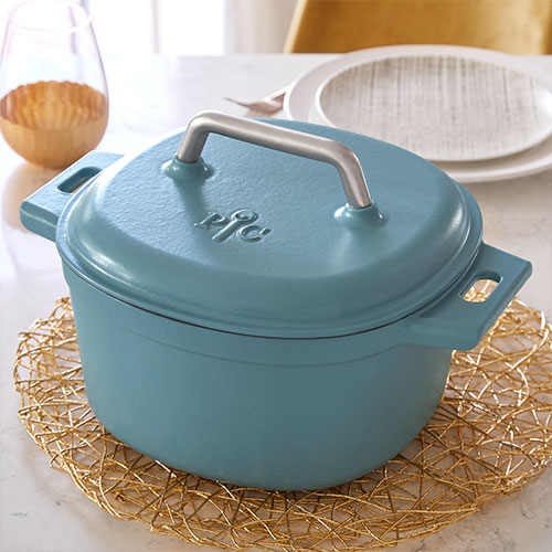 6-qt. Enameled Cast Iron Dutch Oven, Blue