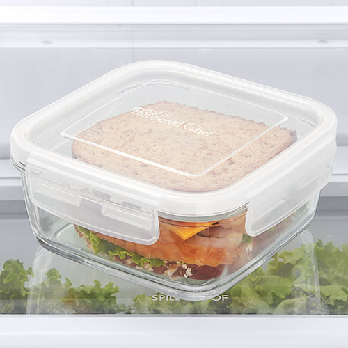 3-cup Leakproof Glass Container