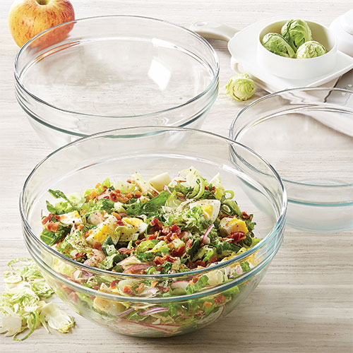 Glass Mixing Bowl Set Shop Pampered Chef Us Site