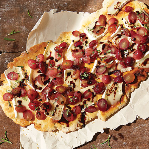 Grilled Grape, Rosemary & Brie Flatbread
