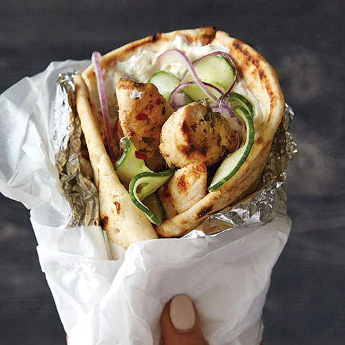 Play Grilled Chicken Shawarma Wrap Video