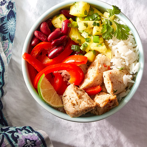 Caribbean Chicken Rice Bowls