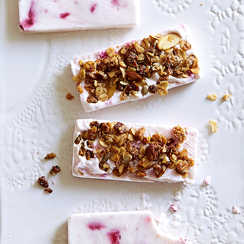 Strawberry Frozen Yogurt Bars