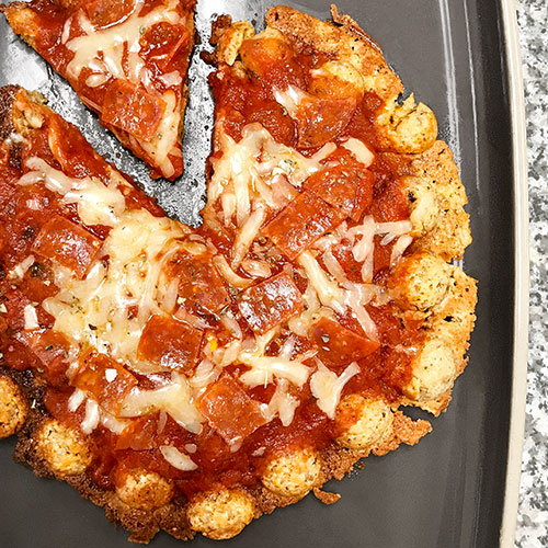 Low-Carb Bubble Waffle Pizza