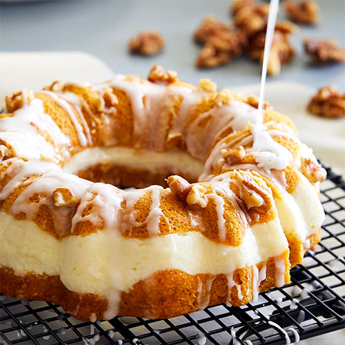Quick Cooker Pumpkin Cream Cheese Bundt Cake