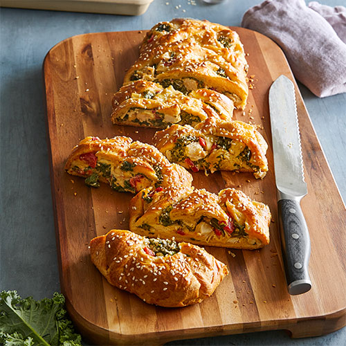 Chicken & Kale Braid