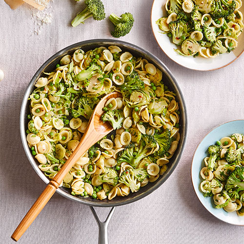 Orecchiette With Brussels Sprouts & Broccoli