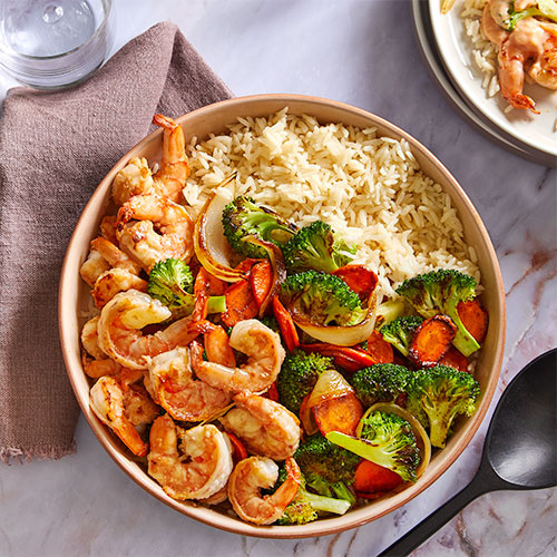 Hibachi Shrimp & Vegetables
