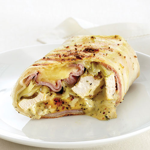 Grilled Chicken, Ham & Swiss Wraps