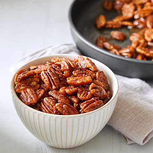 Peppered Glazed Pecans