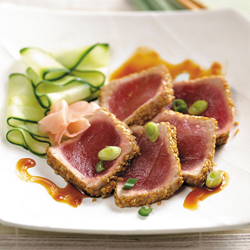 Seared Ahi Tuna with Sesame-Ginger Glaze