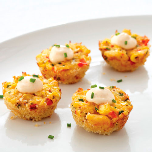 Sweet Corn & Crab Poppers