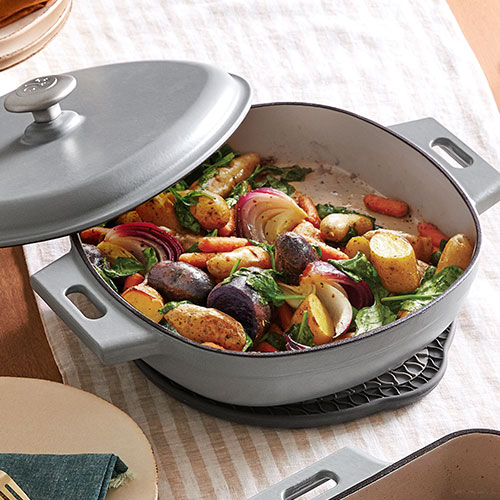 Pan-Roasted Vegetables with Spinach