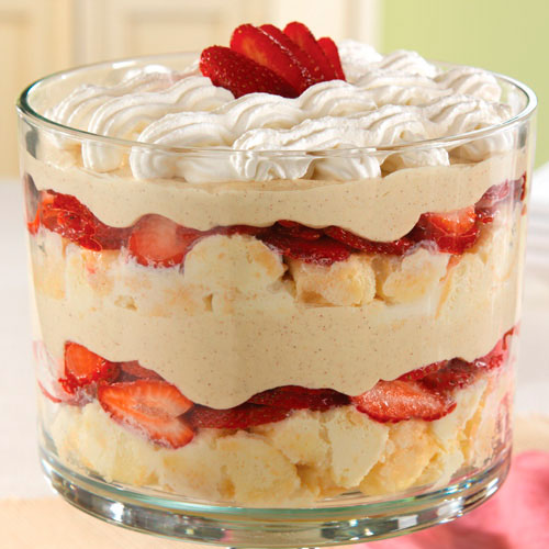 Strawberry-Coconut Tres Leches Trifle