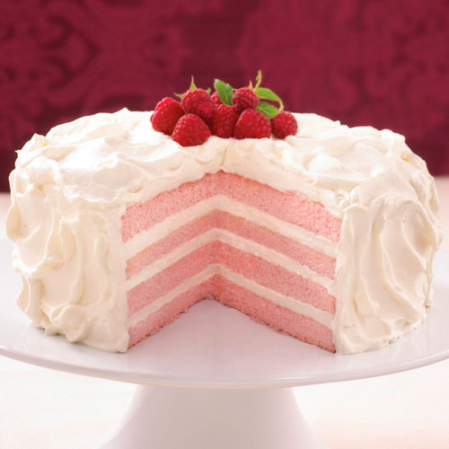 Raspberry-Champagne Cream Cake