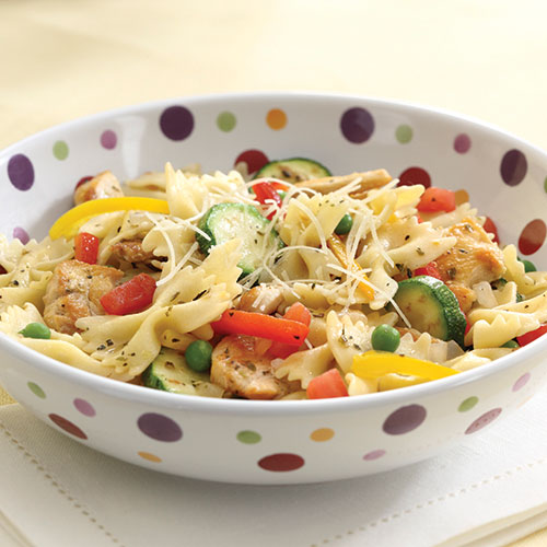Italian Chicken Pasta Toss