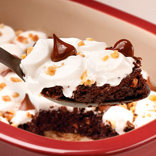 Microwave Rocky Road Brownie Dessert